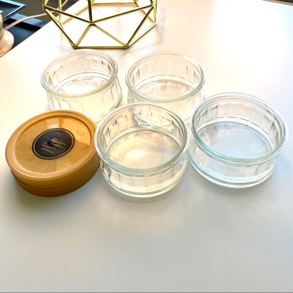 Other - Set of 4 Glass Dishes with Lids